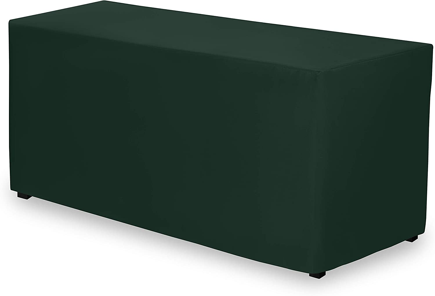 Gee Di Moda Fitted Tablecloth - 72 x 30 Inch - Hunter Green Fitted Rectangle Table Cloth for 6 Foot Table in Washable Polyester - Great for Buffet Table, Parties, Holiday Dinner, Wedding & Trade Show