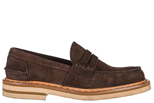 Men's Suede Loafers Moccasins castgold Brown