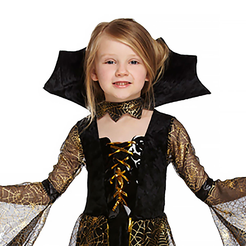 4-6 ans Salveo Filles Spiderella Vampire araign/ée sorci/ère Halloween Costume robe pour 4 12