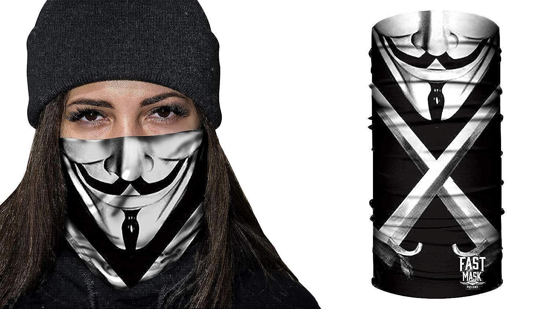 Super Hero Fast Mask Tubular Bandanas With Face Shielding Protection Unisex