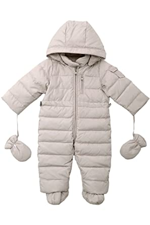 991b7a296f3e Amazon.com  OCEANKIDS Baby Boys  Pram One-Piece Snowsuit Attached ...