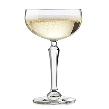 Libbey 56727 Speakeasy Coupe Cocktail Glass, 8.6-Ounce, Set of 4, 8.6 oz, Clear