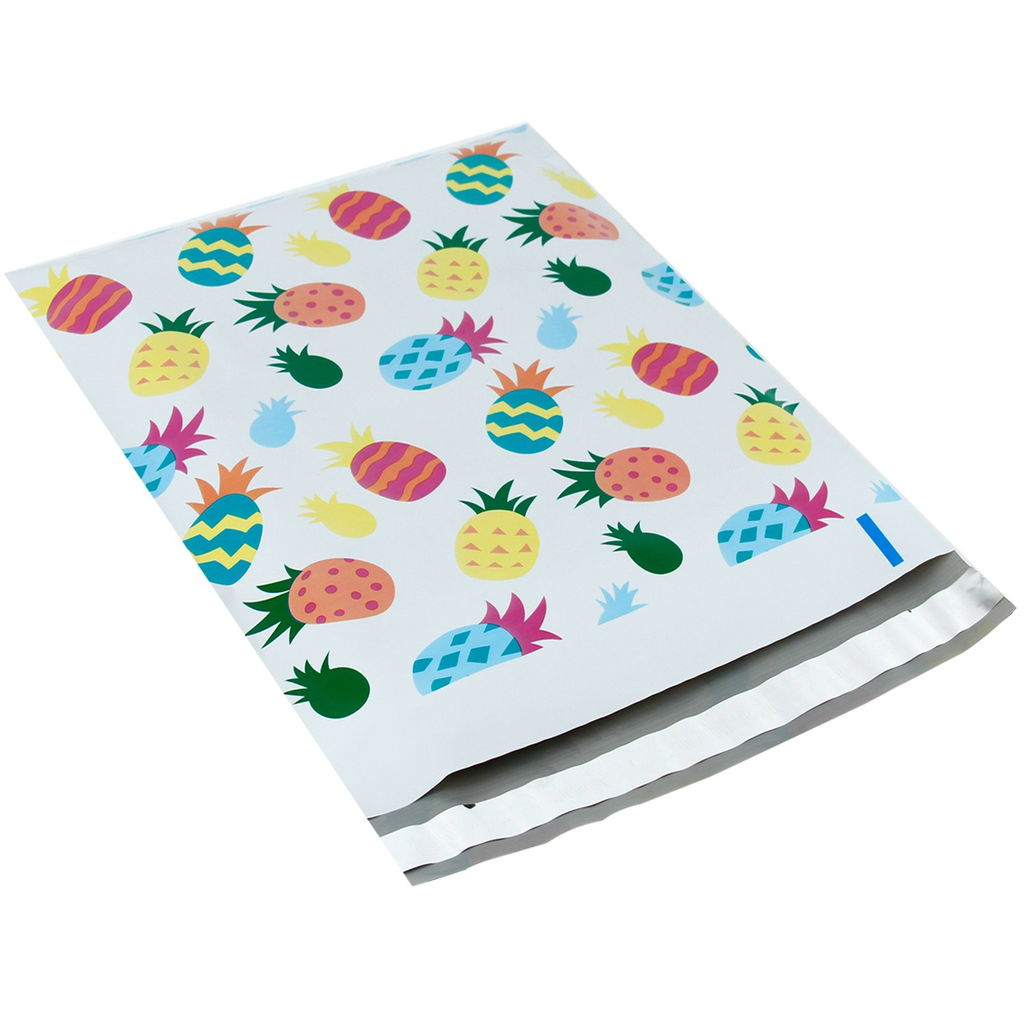 RUSPEPA Poly Mailer Shipping Bag - Pineapple Design Printed Envelopes with Self Seal Adhesive Strip - 10x13 inch - 100Pcs - Pineapple