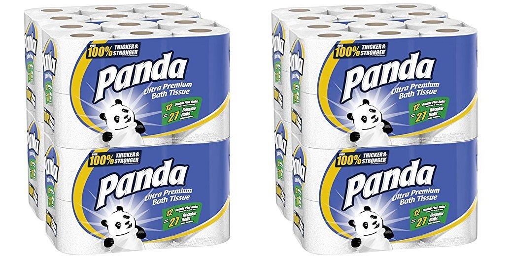 Panda Ultra Premium Toilet Paper, White, 48 Rolls (2 X 48 ROLLS) by Panda