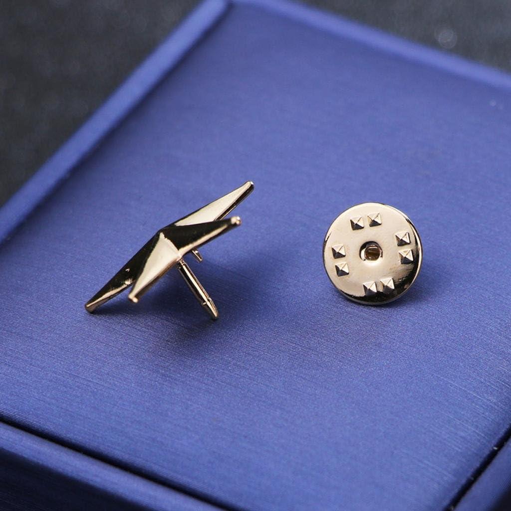 4 Paar Gold Stern Brosche Kragen Hut Taschen Pin Anstecknadeln Schmuck für