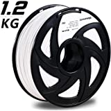 3D MARS White 3D Printing Filament,3D Printer Filament 1.75mm PLA,Dimensional Accuracy +/- 0.05mm,1.2kg Spool,1.75 mm PLA 3D Filament for Most 3D Printer & 3D Printing Pen