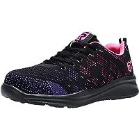 LARNMERN Zapatos de Seguridad para Mujer con Puntera de Acero Zapatillas, Ligeros y Transpirables Zapatos de…