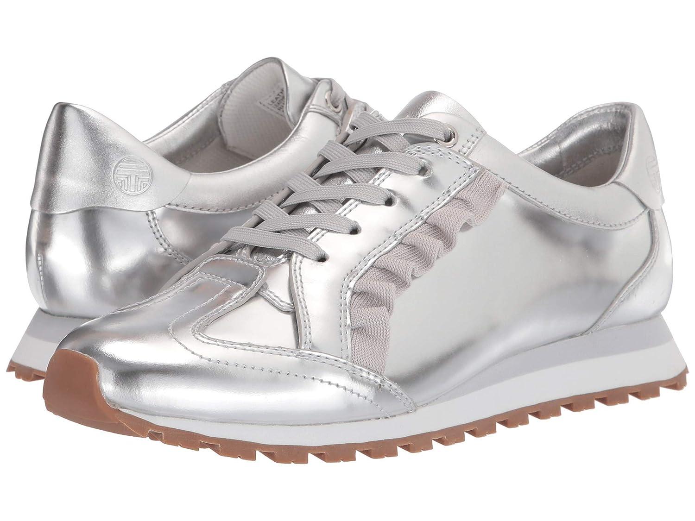 [トリーバーチ] レディースウォーキングシューズカジュアルスニーカー靴 Ruffle Trainer [並行輸入品] B07P5N6KDX Silver/Gray/Gray 24.5 cm B 24.5 cm B|Silver/Gray/Gray