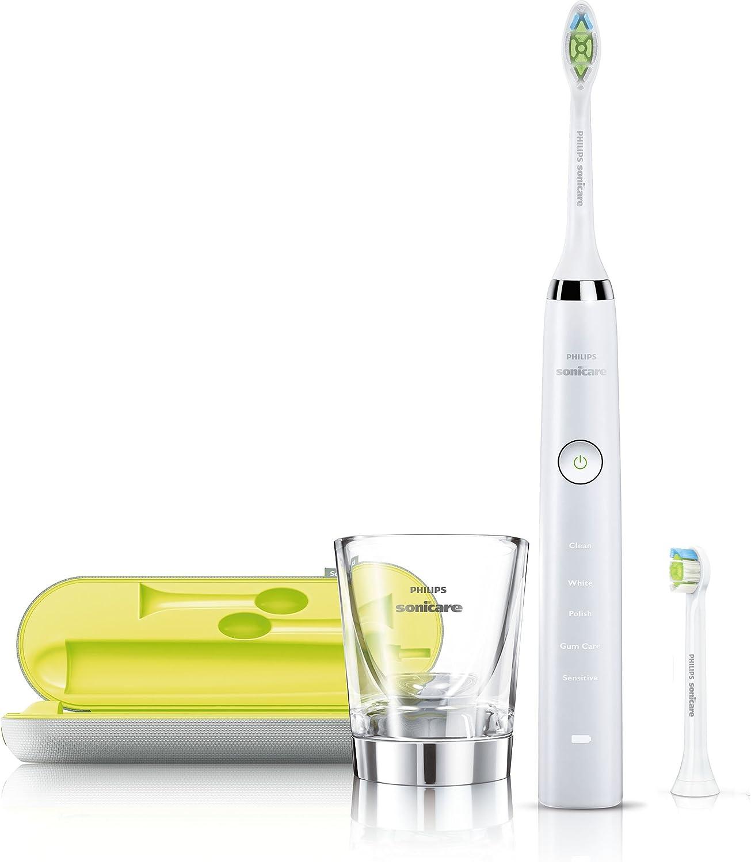 Philips HX9332/04 - Cepillo de dientes eléctrico Sonicare Diamond Clean con cabezales de repuesto y estuche, AC/batería iones de litio, 2W, color blanco (importado): Amazon.es: Salud y cuidado personal
