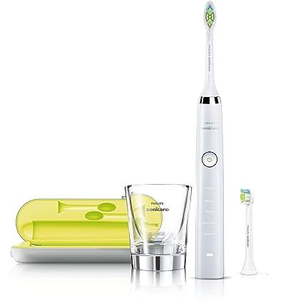 Philips HX9332/04 - Cepillo de dientes eléctrico Sonicare Diamond Clean con cabezales de repuesto y estuche, AC/batería iones de litio, 2W, color ...