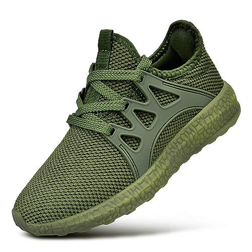 cute reasonable price usa cheap sale QANSI Kinder Sportschuhe Madchen Junge Atmungsaktiv Sneaker Laufschuhe Grun  32 EU