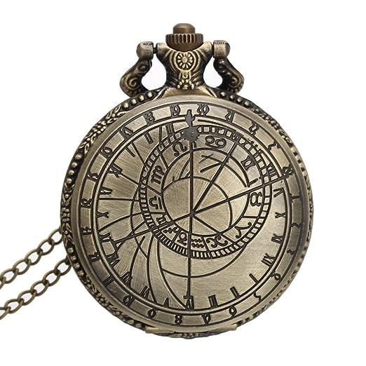 28 opinioni per Orologio da Tasca a Quarzo Figura Geometrica con Collana in Lega Bronzeo Vintage