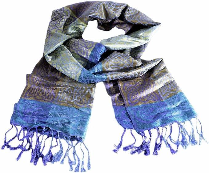 Carrolls Irish Gifts Mulligans Pashmina-Schal in irischem Design mit keltischen Knoten und Rathlin-Design