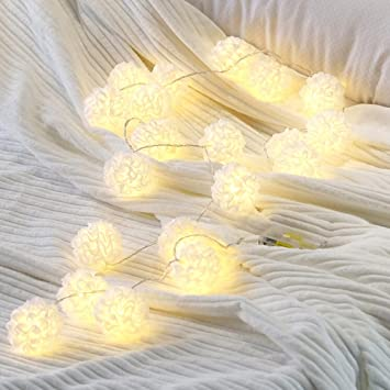 Amazon arestore white flower string lights 15meter 10 bulbs arestore white flower string lights15meter 10 bulbs battery operated warm white fairy lights mightylinksfo
