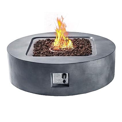 Outdoor Propane Fire Pit.Cloud Mountain Fire Tables Fire Pit 42 3 Outdoor Propane Fire Pits Round Column Garden Yard Balcony Outdoor Patio Warming Decor With Pvc Beige Cover