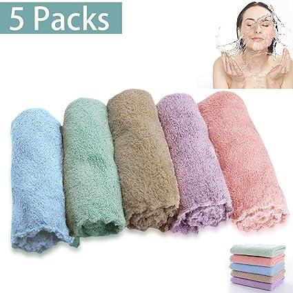 Toallitas de limpieza facial de microfibra para toallas faciales, antibacterianas, suaves para piel sensible