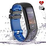 Fitness Tracker,Yakuin Fitness Armband Uhr Wasserabweisend IP67 mit Pulsmesser Herzfrequenz,Schrittzähler Activity Tracker,Bunte Touchscreen Smart watch mit Schlafanalyse,Kalorienzähler,Bluetooth,GPS, Zum Schwimmen, Call Text für iOS/Android Handy