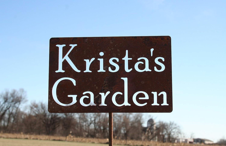 Custom Rustic Metal Garden Stake