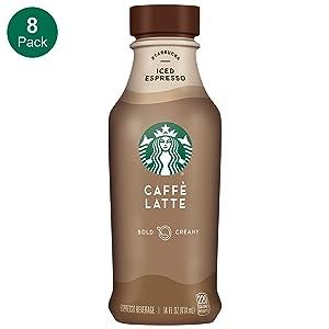 Starbucks, Caffe Latte, 14 fl oz. bottles (8 Pack)