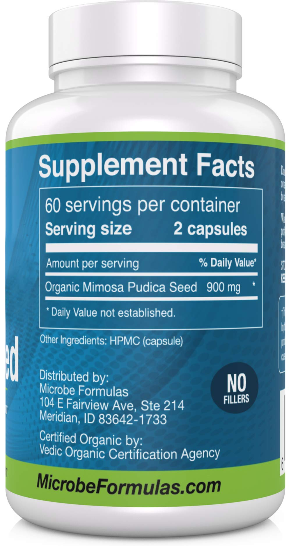 Microbe Formulas: Mimosa Pudica - Intestinal Support - 120 Capsules - Supports Detoxification - Antimicrobial Benefits - Fat Soluble Organic Supplement - Dietary Supplement - Healthy Intestinal Tract by Microbe Formulas (Image #2)