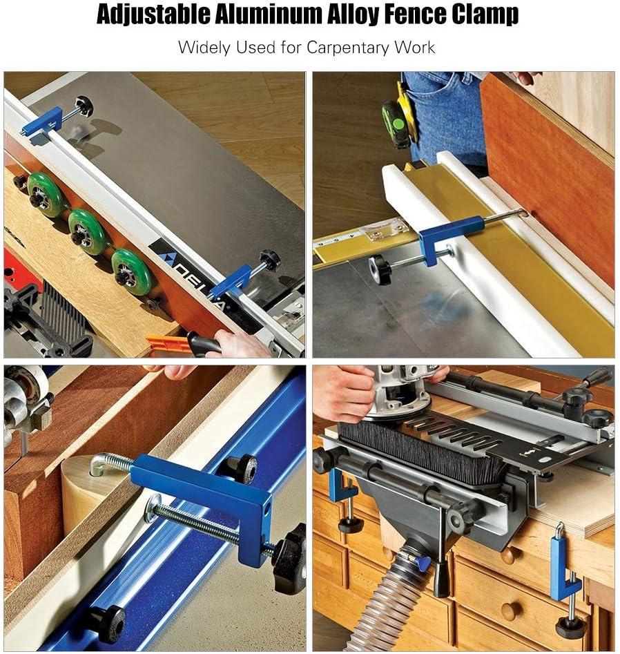 KKmoon Abrazadera de cerca de aleaci/ón de aluminio,Abrazadera ajustable universal para carpinter/ía