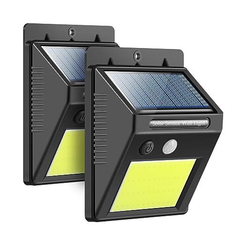 3 Modos de Iluminación Luces Solares,48LEDs Modo de Sensor de Movimiento / Dim /