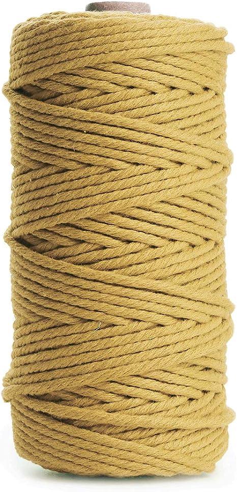 HAPYLY - Cordón de macramé de algodón para manualidades, cuerda ...