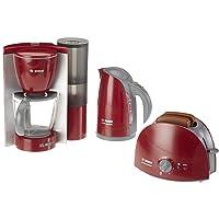 Theo Klein 9580 Bosch frukostset I kökset består av brödrost, kaffemaskin och vattenkokare I Förpackningsmått: 44,5 cm x…