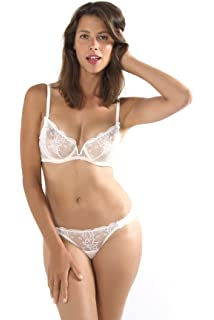 88bd46a1efd Mimi Holliday Swan Lake Silk Comfort Bra White 36D: Amazon.co.uk ...