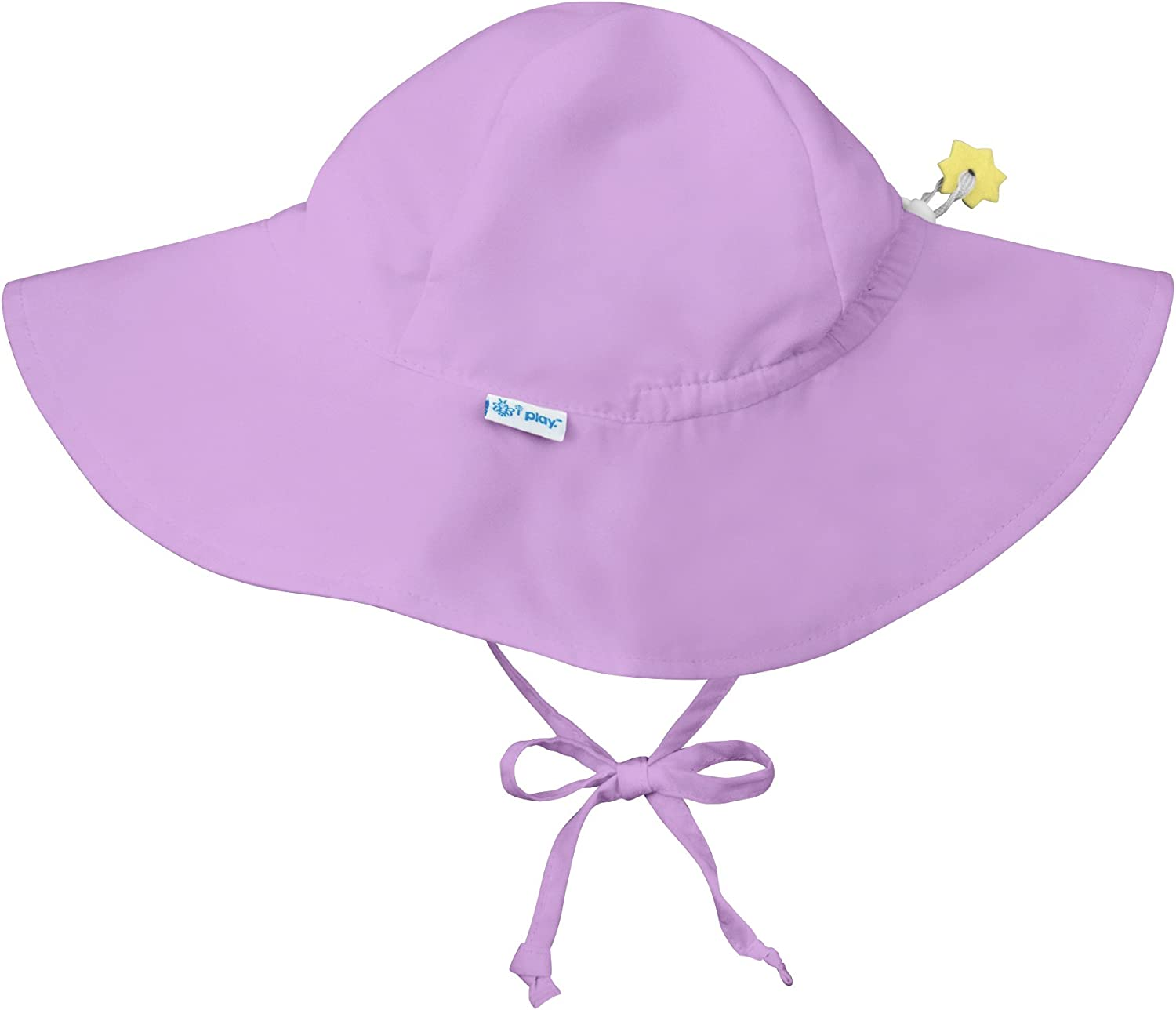 i play. by green sprouts Baby Solid Brim Sun Protection Hat, Lavender, 9/18mo