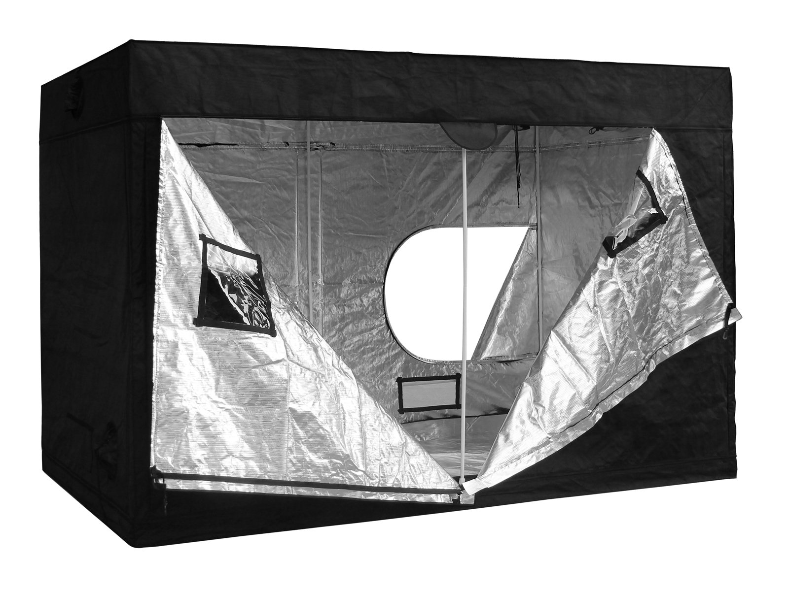 118x60x78'' Indoor Grow Tent Room Reflective Mylar Hydroponic Non Toxic Hut 600D 10x5x6.5FT HX-0011878-PT1
