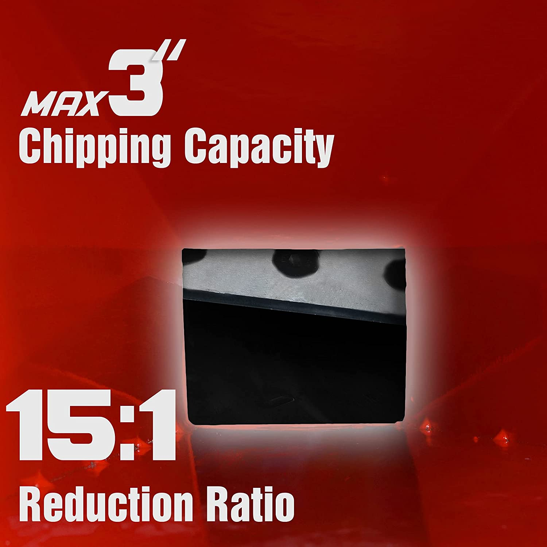 Mini Wood Chipper Shredder Mulcher Ultra Duty Kohler Engine 6.5 H Garage Garden