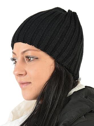 Warme Damen Strickmütze, Wintermütze, Beanie, Mütze mit Strickmuster ...