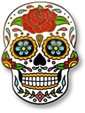 Pinsanity Day of The Dead Sugar Skull Enamel Lapel Pin