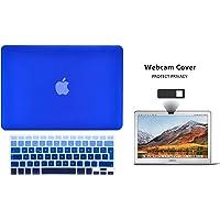 Protector Funda Case para Macbook + Protector Skin Cover de Teclado en Español + Webcam Cover AntiSpy Azul Degradado Macbook Air 13'' Model: A1369 / A1466