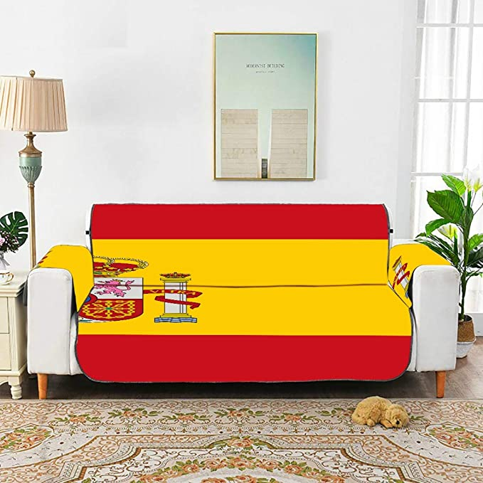 WYYWCY Alta Detallada Bandera España Cojín en T Sofá Seational Reclinable Sofá Funda Slipcover Chaise Lounge Chair 66