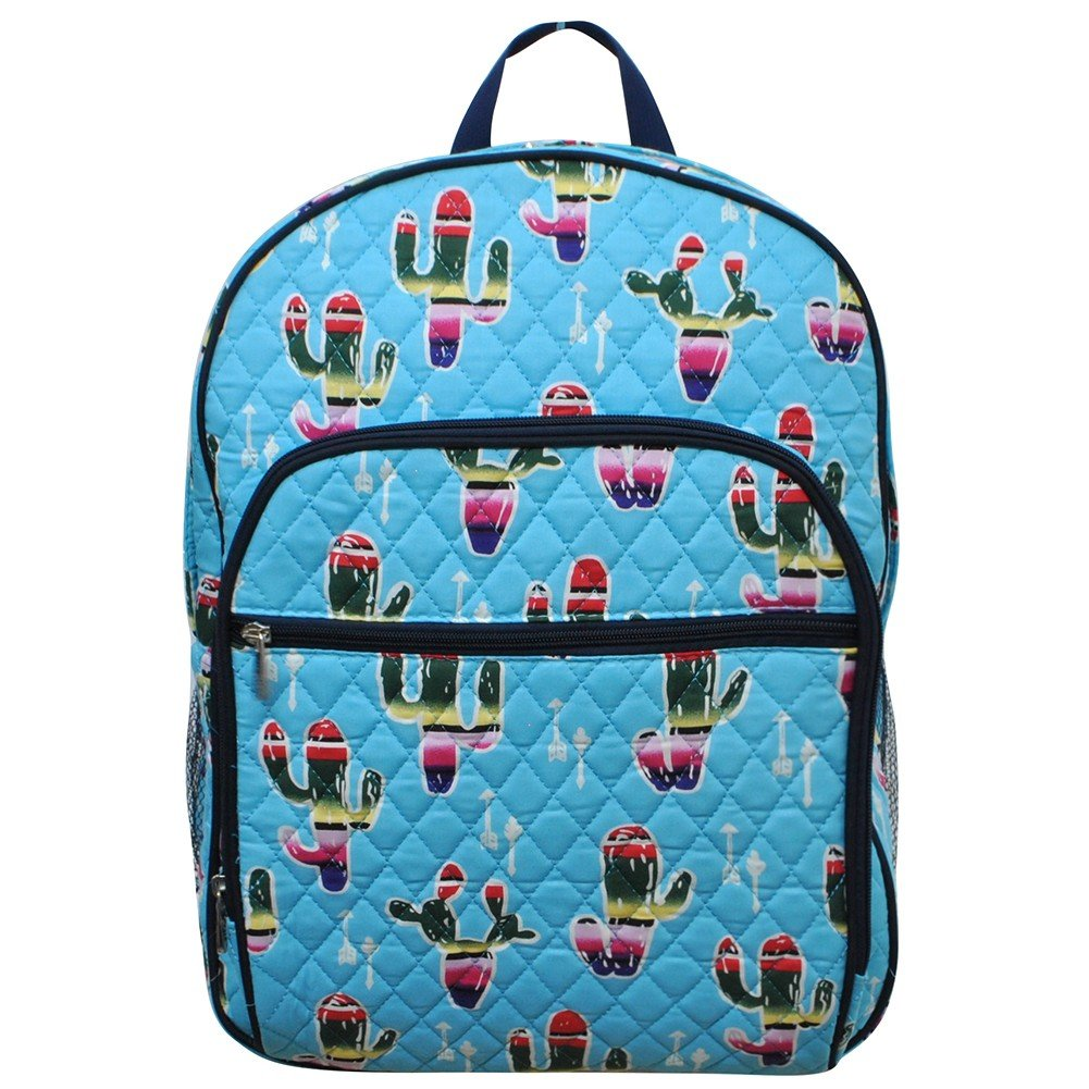 709ed8869223 American Sarape Cactus Print NGIL Quilted Large School Backpack