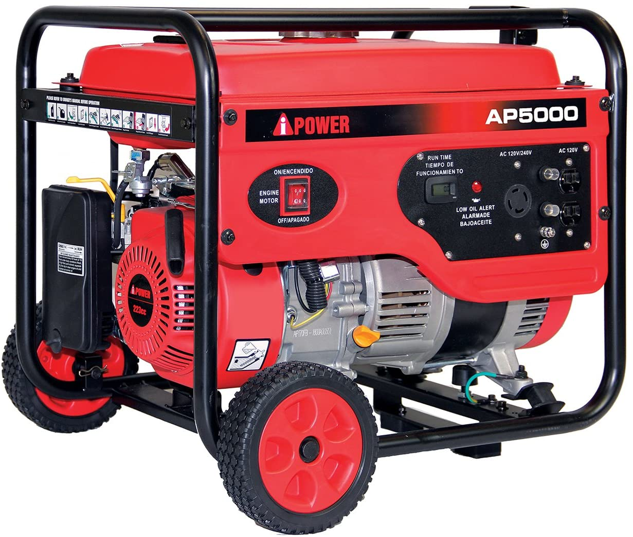A-iPower AP5000V 5000-Watt Gas Powered Portalable Generator AP5000, 5000 WATT, Oranage