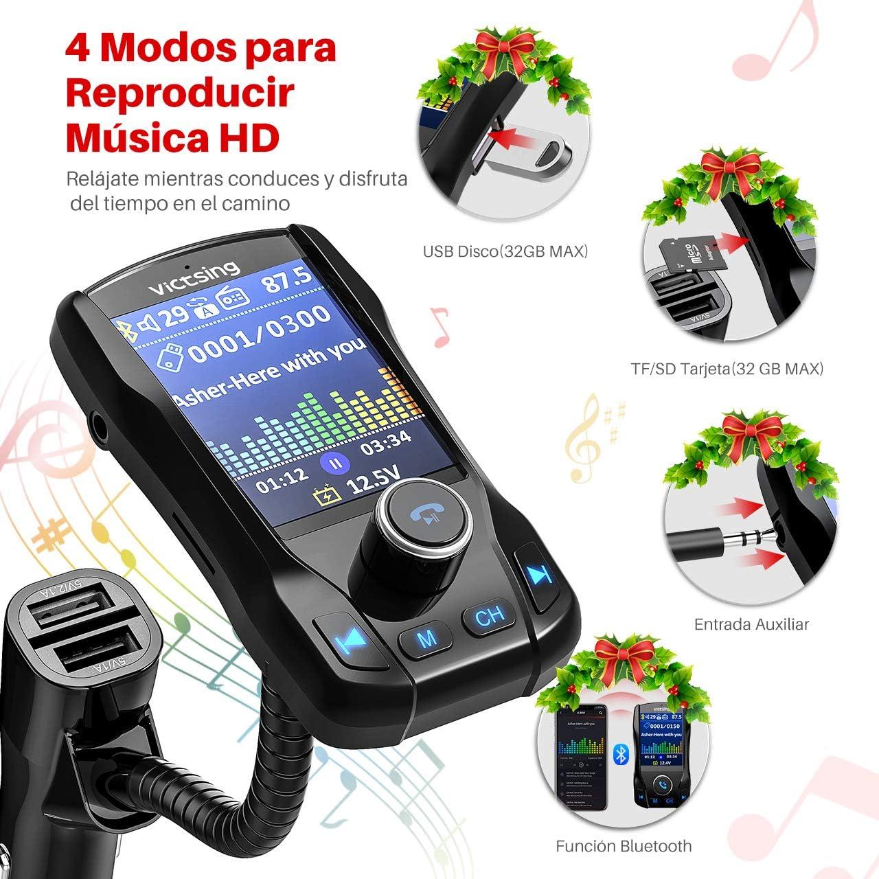 Centitenk Kit transmisor Bluetooth Manos Libres inalmbrico AUX ...