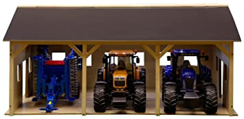 Van Manen 610340 - Cobertizo para 3 tractores Brüder (55 x 77 cm, escala