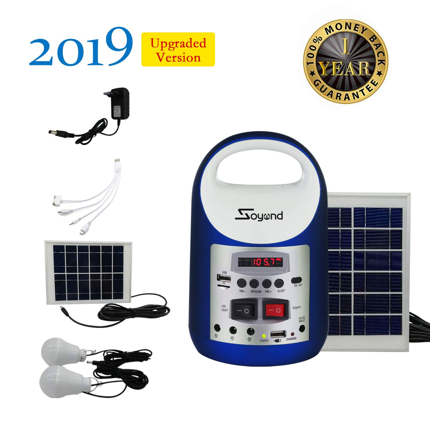 soyond Portable Solar Generator with Solar Panel Solar Powered Generator Inverter Small Basic Portable Electric Generator Kit by soyond (Image #7)