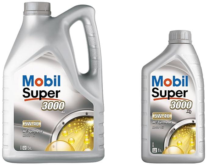 ExxonMobil Mobil 1 150944 aceite de motor de Super 3000 XE 5W-30, 5 litros: Amazon.es: Coche y moto