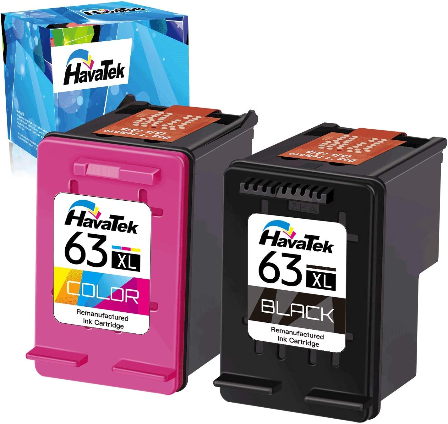 2 Black   1 Tri-Color Tyjtyrjty Remanufactured Ink Cartridge Replacement For HP 63XL 63XL High Yield For HP DeskJet 1110 1112 2130 3630 3632 ENVY 4520 Officejet 3830 4650