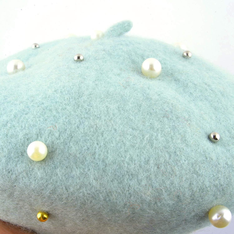 Pearl Vintage Cap Girl Autumn Berets caps Women Painter Ladies Novelty Newsboy Hats boinas Gorras