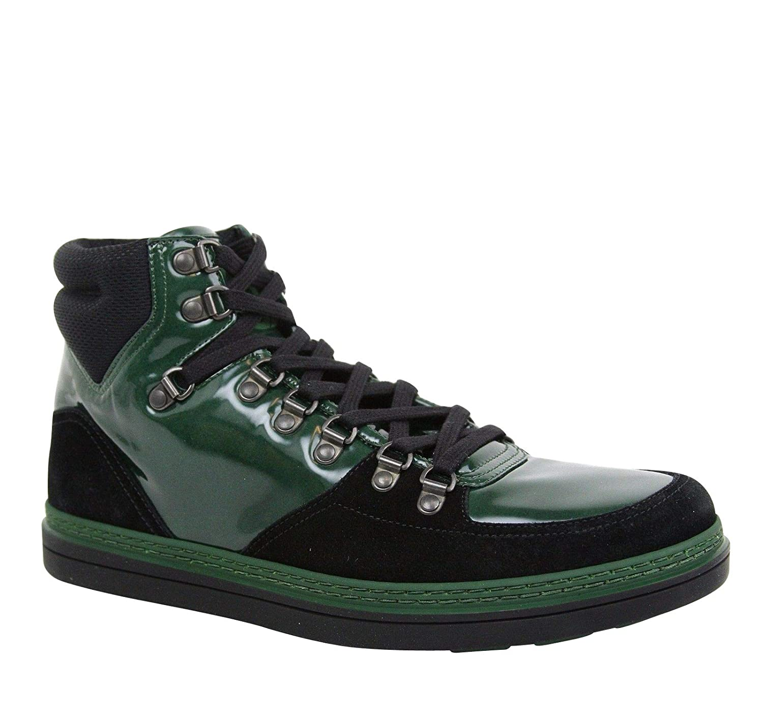 268cb927cff Amazon.com  Gucci Contrast Combo High top Dark Green Suede Leather Sneaker  368496 1077  Shoes