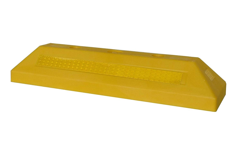 PWS-32Yx1 Kunststoff Radstopp-Parkbegrenzung f/ür gewerbliche und private Parkh/äuser Farbe Gelb 1 St/ück Parkpl/ätze und Privatgaragen Abmessungen 53 x15 x 9,5 cm
