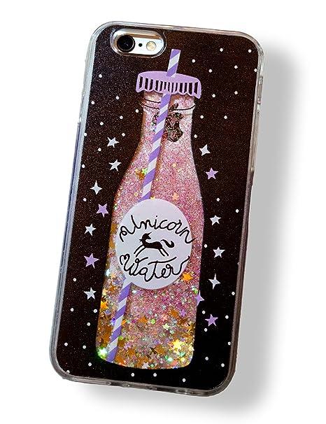 coque iphone 6 plus paillette liquide bouteille