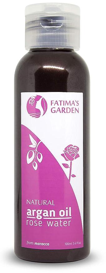 fatima S Garden – Desmaquillante Bio con el aceite de argán y agua de rosa, Desmaquillante bi-phase suave para maquillaje Waterproof Impermeable – ...