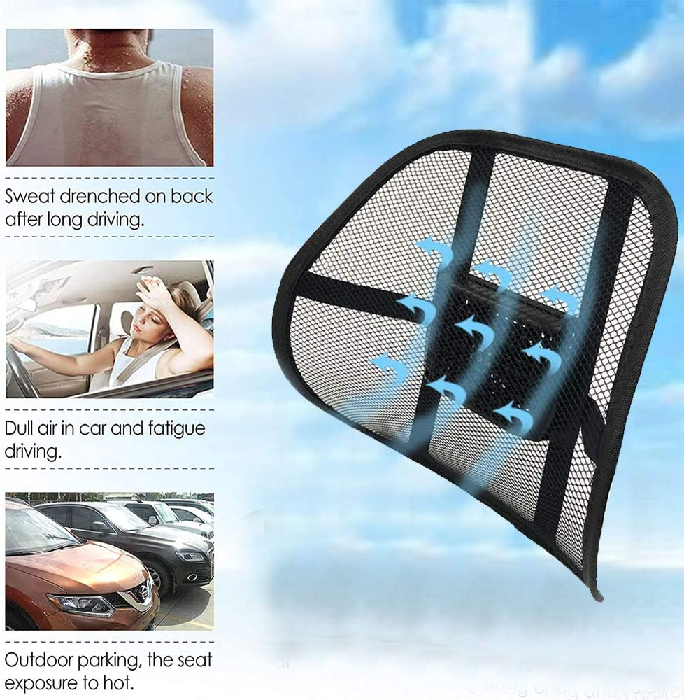 Big Ant 12V Cooling Lumbar Support Back Support Car Mesh Chair Support Ergonomic Designed for Comfort and Lower Back Pain Relief Lumbar Back Support for Car Home Office