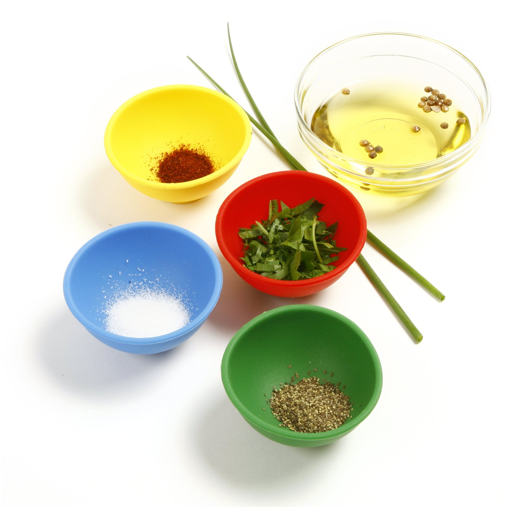 Norpro Silicone Mini Pinch Bowls, Set of 4